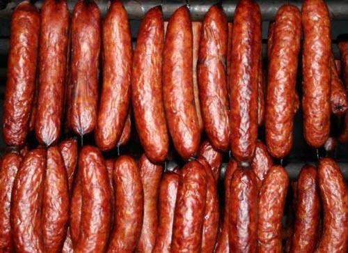 Копченая домашняя колбаса