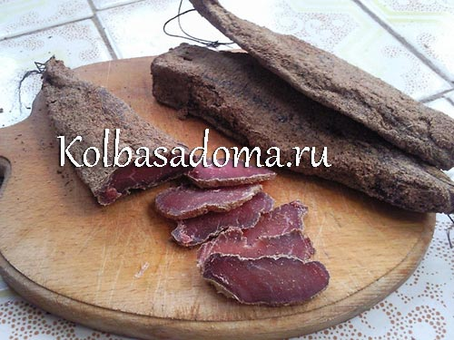 Бастурма из говядины в домашних условиях рецепт