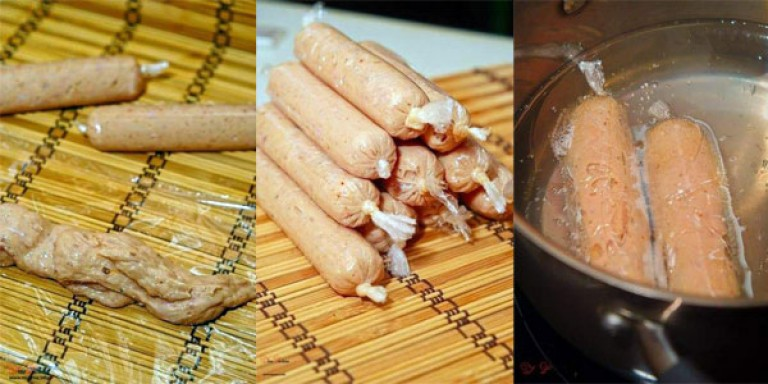 Домашние сосиски из индейки рецепт