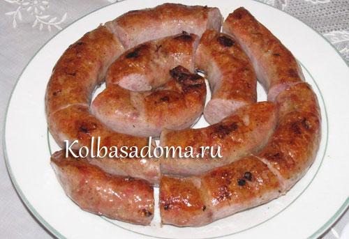 Немецкие колбаски для гриля