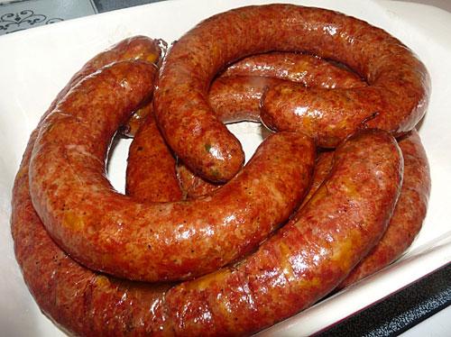 Домашняя колбаса из оленины