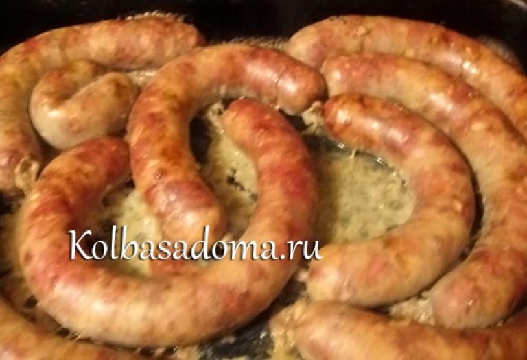 Домашняя печеночная колбаса в кишках рецепт