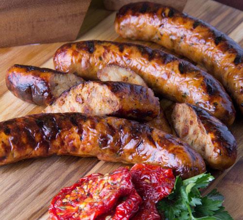Домашняя куриная колбаса с языком