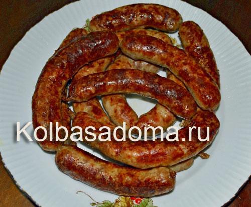 Свиная колбаса с коньяком